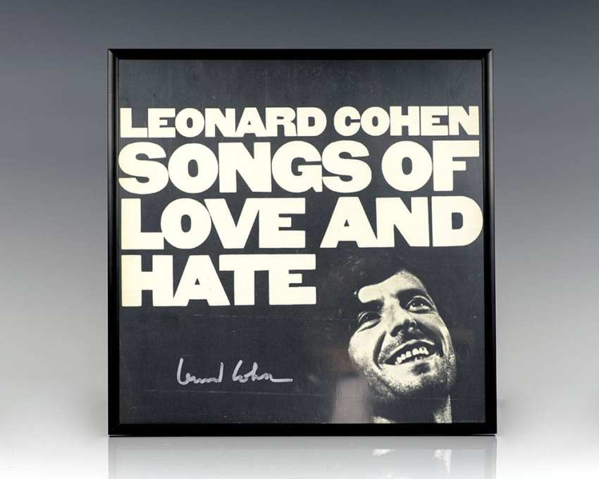 Leonard Cohen. Songs of Love and Hate.