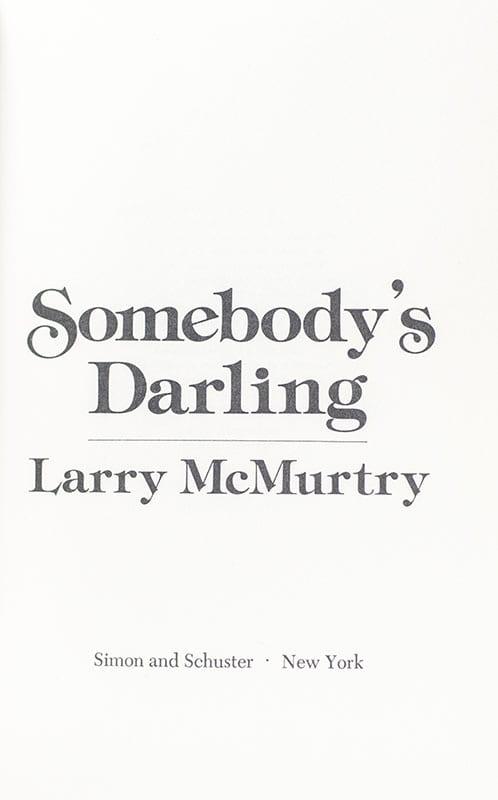 Somebody's Darling.