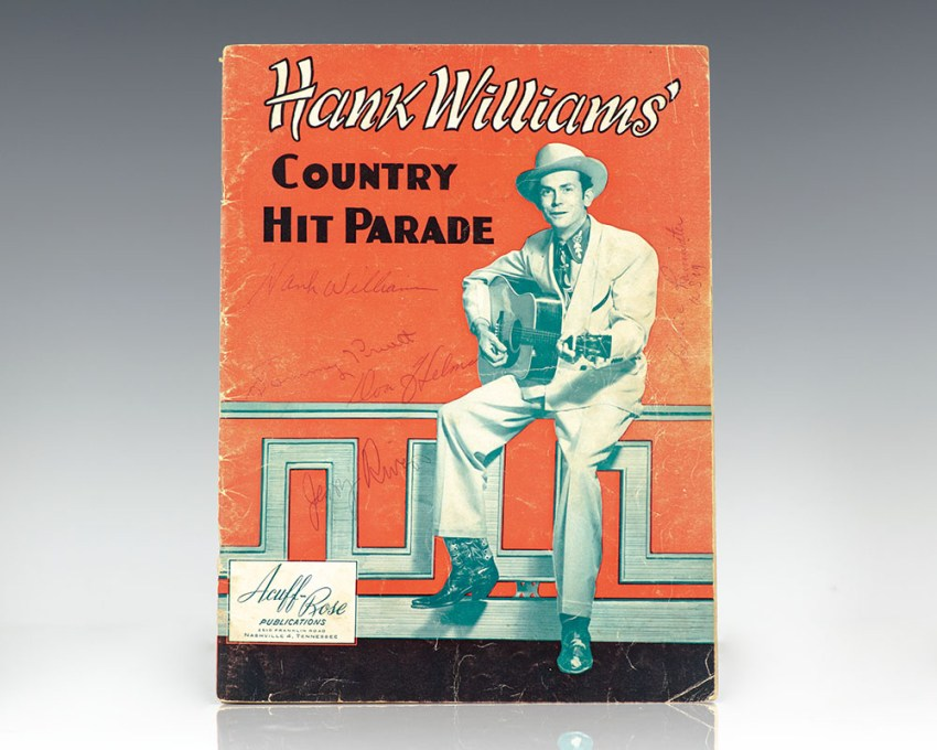 Hank Williams' Country Hit Parade Original Songbook Signed.