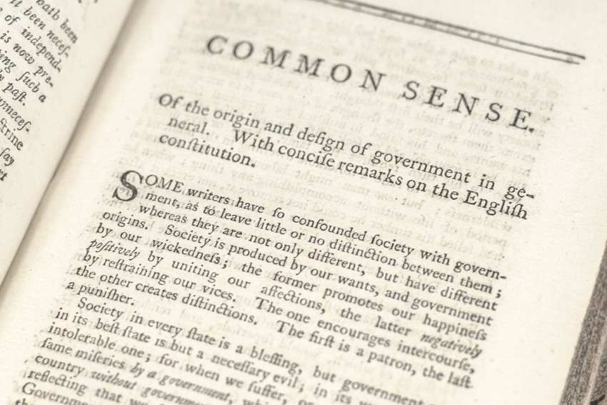 Common Sense: Addressed to the Inhabitants of America, Plain Truth, Rights of Man Parts I & II, and An Answer to Pain's Rights of Man.