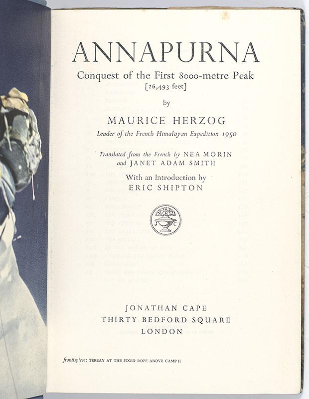 Annapurna: The First 8,000 Metre Peak (26,493 Feet).