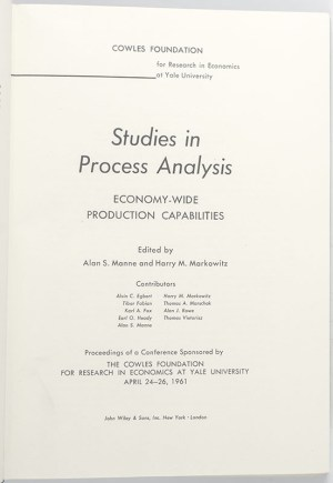 Studies In Process Analysis: Economy-Wide Production Capabilities.