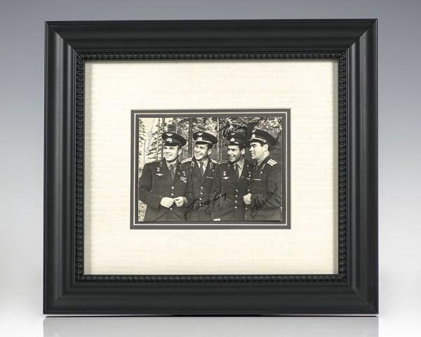 Yuri Gagarin and Russian Cosmonauts Photograph Signed.