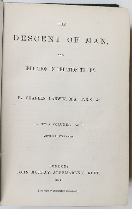 The Descent of Man.