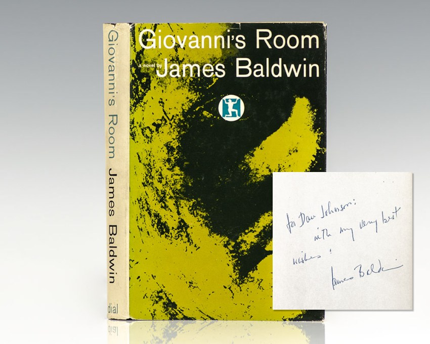 First edition of James Baldwin's Giovanni's Room; inscribed by him