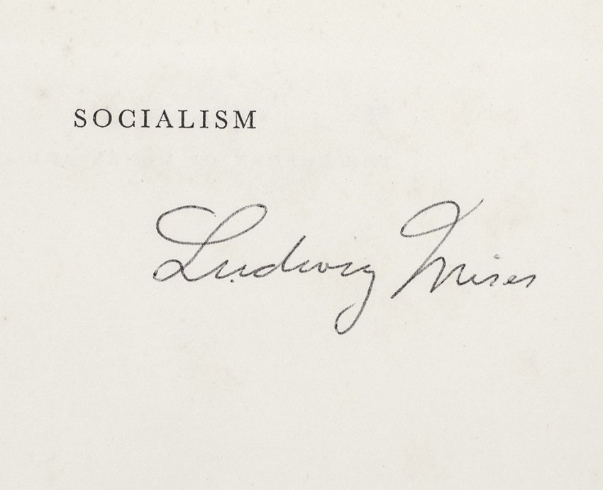 Socialism: An Economic and Sociological Analysis.