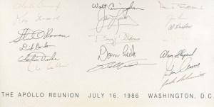 Apollo Astronauts Signed Reunion Poster.