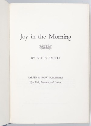 Joy In The Morning.