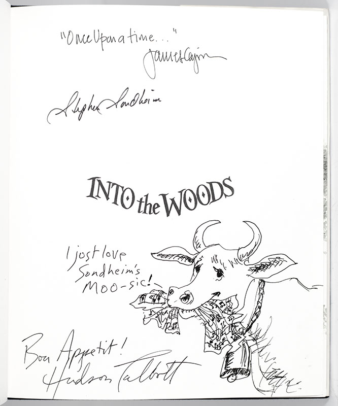 Into The Woods Stephen Sondheim First Edition Signed