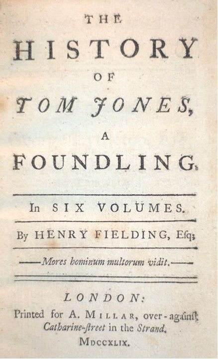 Henry Fielding's The History of Tom Jones, a Foundling, rare book, First Edition, First printing run