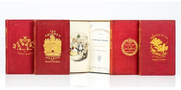 First Edition set of Dickens' Christmas Books