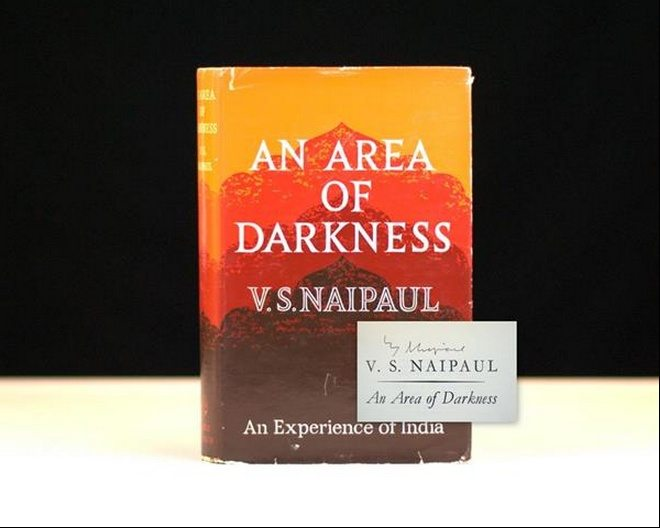 V.S. Naipaul An Area of Darkness Rare Signed First Edition