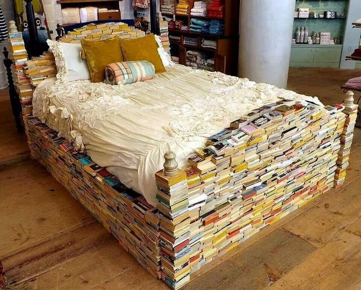 bed made of books