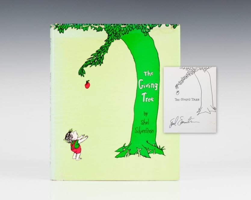 the-giving-tree-shel-silverstein-first-edition-signed