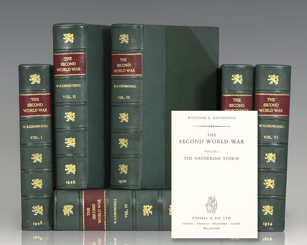 First editions of Winston Churchill's masterpiece The Second World War