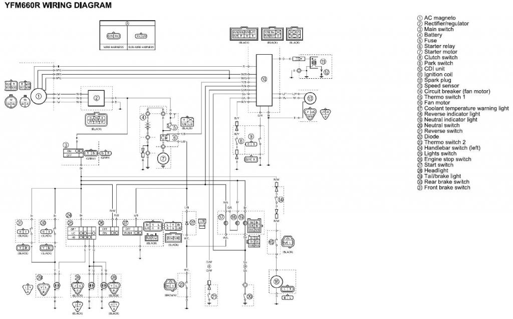 04 yamaha 660 grizzly wire diagram
