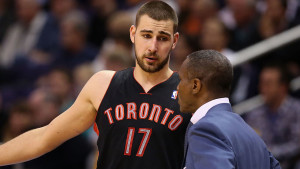 Jonas Valanciunas stands to be a big factor tonight if the Raptors attack the paint.