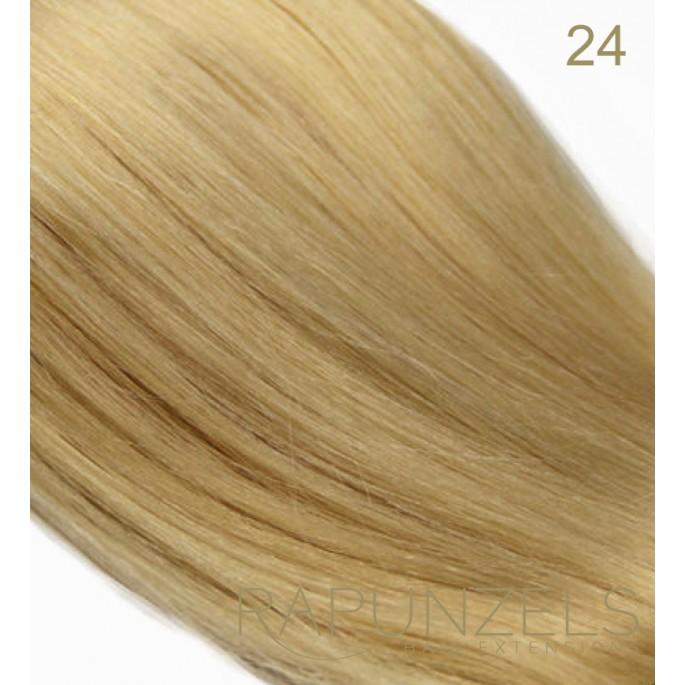 0 5 Gram 20 Pre Bonded Nail Tip Colour 24 Medium Gold Blonde 25 Strands