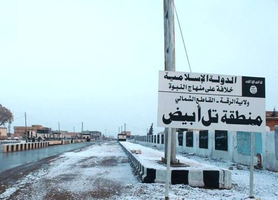 Entrance of the border city of Tell Abiad