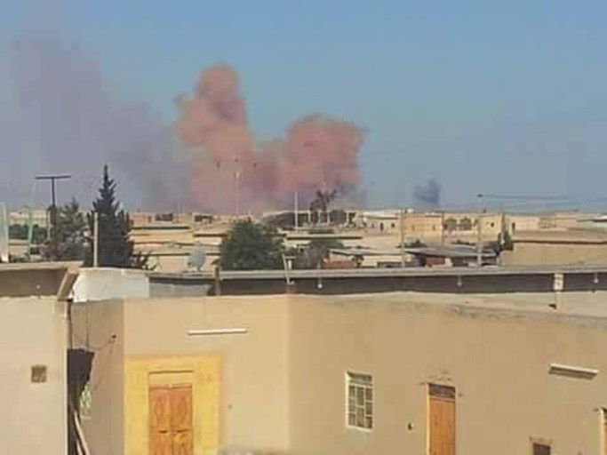 U.S.-led coalition forces bomb Raqqa, Syria, the Islamic State group headquarters, on Friday, Feb. 6, 2015. Raqqa Is Being Slaughtered Silently