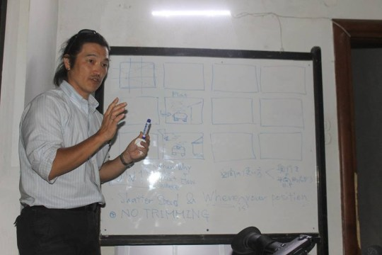 Kenji Goto in Aleppo, May 2014, during a training on photography and videography given for us for free Syria