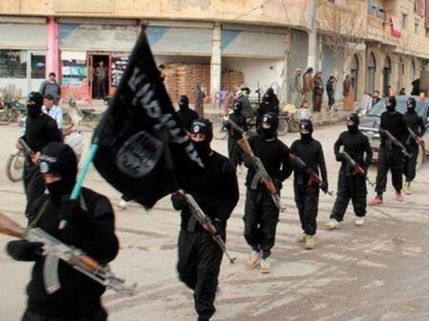 IS-parad i al-Raqqa.
