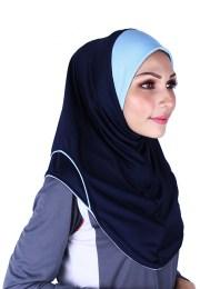 Raqtive Sport Hijab Navy Blue B201