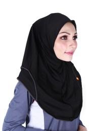 tudung sukan Raqtive Sport Hijab Black black b208