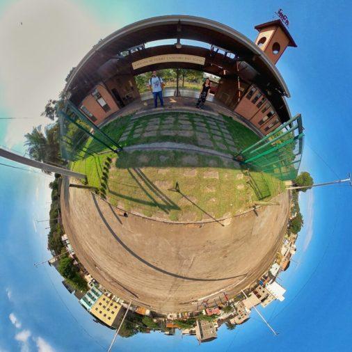 Estação Pouso de Água Limpa durante captação das imagens em 360º para o projeto Roteiro Turístico e Cultural