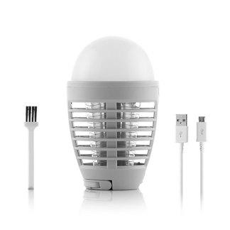 lámpara antimosquitos recargable con luz led y gancho