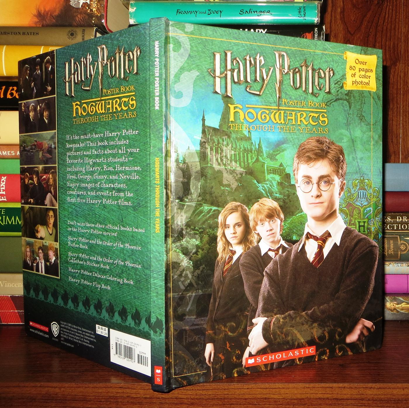 Scholastic Hogwarts Through The Years Poster Book Harry