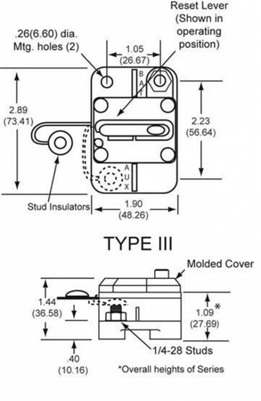New Oem Cooper Bussman Circuit Breaker 6-48Vdc 150 Amp