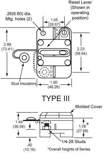 New Oem Cooper Bussman Circuit Breaker 0-42Vdc 60 Amp