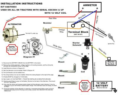 Ford 1g Alternator Wiring Diagram New Generator Alternator Conversion Kit Late Model Ford 8n
