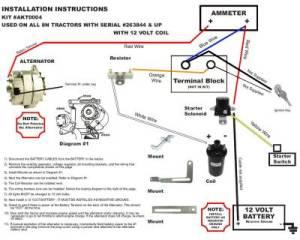 New Generator Alternator Conversion Kit Late Model Ford 8N Tractors Akt0004