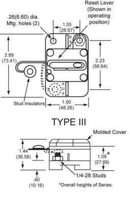 New Oem Cooper Bussman Circuit Breaker 0-42Vdc 90 Amp