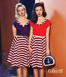 Francesca striped swing dress by Collectif