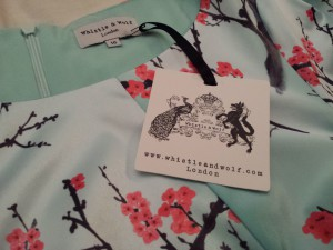 Whistle & Wolf blossom print peplum dress