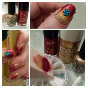 "My ""Iron Man"" inspired manicure"