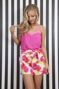Whistle & Wolf Tropical Floral Tailored Shorts