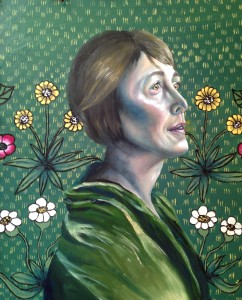 """The Woman in Green"" by Olexandra Solomka"