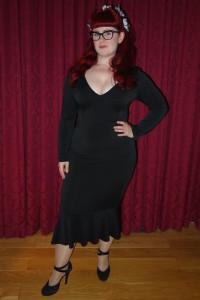 Lori wearing the Lady Voluptuous 'Bellatrix' dress