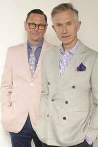 Shaun Cole and David Evans model summer jackets for Grey Fox Blog