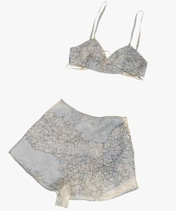 Underwear made from silk escape maps, IWM collections