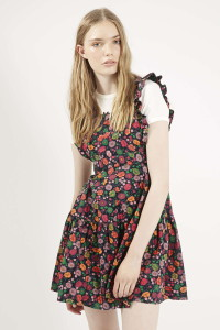 Ruffle Pinafore Meadow Dress by Topshop Archive