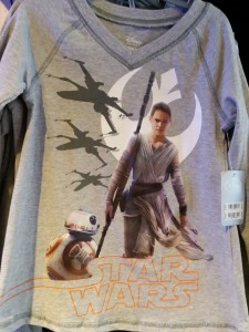 Disney Store t-shirt for Star Wars Episode 7. Photo by lipsticklori