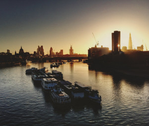 Waterloo Bridge sunrise, via Mike Rolls' Flickr photostream