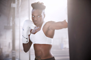 Nicola Adams for Panache Sport. Photographed by Martin Brent