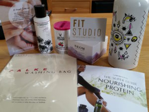 The contents of my Selfridges Body Studio gift bag