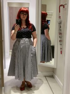 One of my favourite summer outfits. (T-shirt: H&M. Skirt: Collectif. Shoes: Debenhams.)